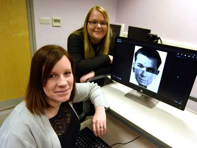 Dr Natalie Butcher and Laura Sexton.. Link to New study to shine a light on face blindness.