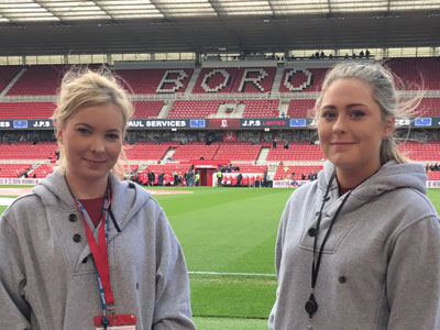 Link to Nursing students help to launch sensory room for young Boro fans.