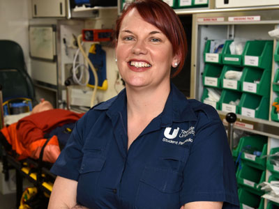 Caroline Wright. Link to Degree course put Caroline on paramedic career path.