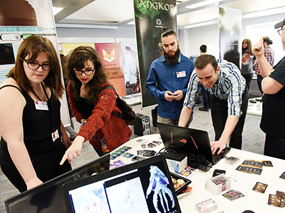 ExpoTees, the School of Computing's annual student showcase, is used by many major employers to recruit graduate talent.. Link to Teesside is the region's leading University for graduate employment.