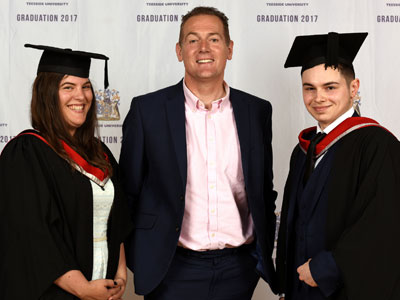 Daisy Campbell and Adam Gilmartin pictured with Andy Preston, centre, of Middlesbrough and Teesside Philanthropic Foundation. Link to Daisy Campbell and Adam Gilmartin pictured with Andy Preston, centre, of Middlesbrough and Teesside Philanthropic Foundation.