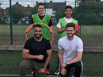 Gurmeet Singh and Matty Jenkinson with Jason Singh and Logan Lowe from Acklam Grange School. Link to View the pictures.