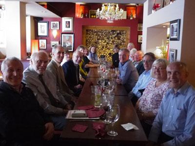Among those enjoying the reunion, graduates Allan Pollock, Alan Green, Anton Van Santen, Geoff Walker, John Hobson, Kamal Jardaneh and lecturers Dr George Martin, Dr Dave Pritchard and Dr Mark Gerrard