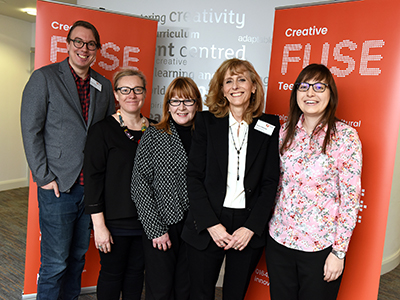 Members of the Creative Fuse team at the Tees Valley launch: (L-R) Samuel Murray, Wendy Parvin, Corinne Templeman, Sharon Paterson, Sarah Panayi. Link to Support launched for creative businesses in Tees Valley.