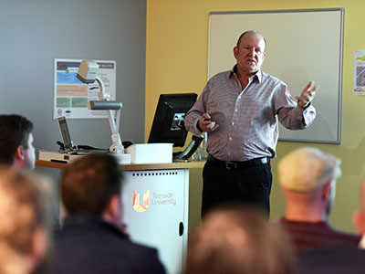 Ian Livingstone speaking at the launch of Leading Growth. Link to 'Be creative in order to succeed' .