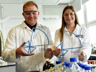 Robert Whitehead and Katie Corcoran.. Link to The 'boardroom' should hold no fear for these award-winning apprentices.
