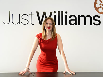 Jessica Williams, Managing Director of Just Williams. Link to Jessica Williams, Managing Director of Just Williams.
