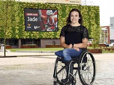 Jade Jones-Hall. Link to Jade and Harry make Teesside proud at the Gold Coast.
