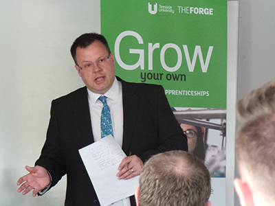 Jonty Bloom speaking at Teesside University's Working with Business conference. Link to Jonty Bloom speaking at Teesside University's Working with Business conference.