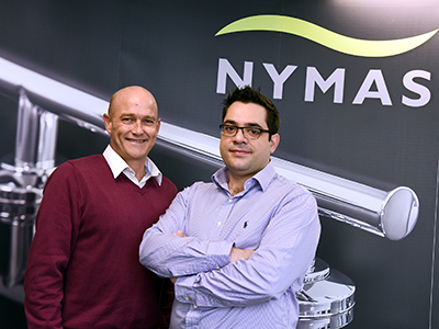 Business improvement coordinator Dr Thanos Klonis (right) and Product Design & Innovation Coordinator Lawrence Stratton (left) were taken on at NYMAS on Knowledge Exchange Internships through Innovate Tees Valley.. Link to Business improvement coordinator Dr Thanos Klonis (right) and Product Design & Innovation Coordinator Lawrence Stratton (left) were taken on at NYMAS on Knowledge Exchange Internships through Innovate Tees Valley..