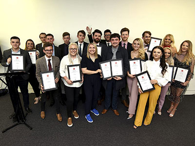 Anna Foster presented the awards.. Link to Future journalists honoured at Teesside University Journalism Awards.