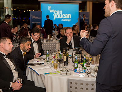 Last year's competitor Jake Newport pitching his idea to a table of business professionals including Ammar Mizar CBE. . Link to North East start-up competition returns for the tenth year running.