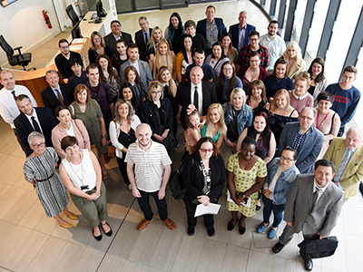Recipients of prizes and scholarships met with donors at a special event at Teesside University. . Link to Donors thanked for contribution to student success.