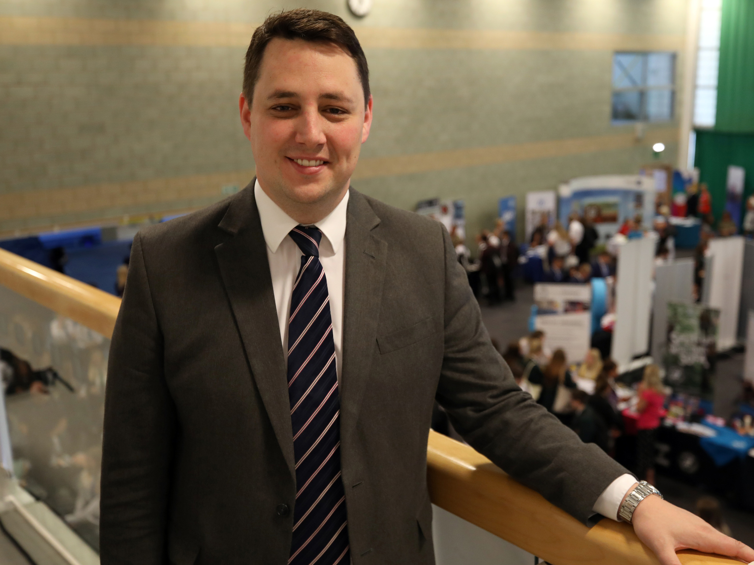 Tees Valley Mayor Ben Houchen at the Tees Valley Skills and STEM event.. Link to Tees Valley Skills and STEM event hailed a success.
