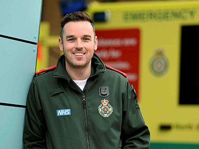 Anthony O'Connor. Link to Degree prepared Anthony for paramedic career.