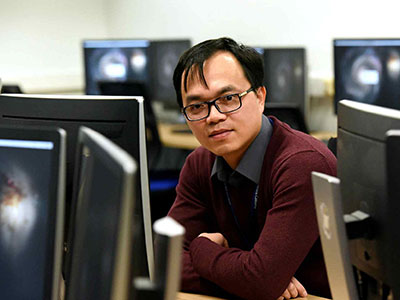 Dr The Anh Han, Senior Lecturer in Computer Science. Link to View the pictures.