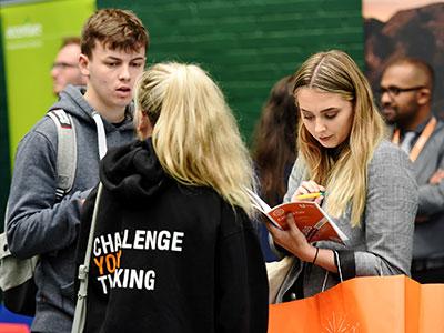 Link to Careers fair at Teesside University .