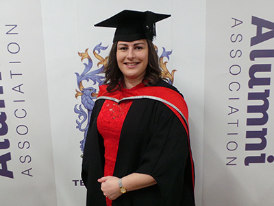 Annabel Law. Link to  Two reasons to celebrate for award-winning graduate.