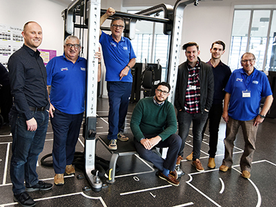 Daniel Eaves, Ted Docherty, Steve Foster, Jack Binks, Jonathan Emerson, Matthew Scott and Graham Wilson.. Link to New rehabilitation methods for improving recovery after a stroke.