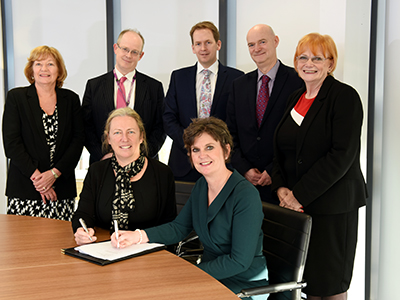 Sue Jacques, Professor Jane Turner OBE DL, Linda Nelson, Jeremy Cundall, Dr James Limb,  Professor Simon Hodgson, Marion Grieves.