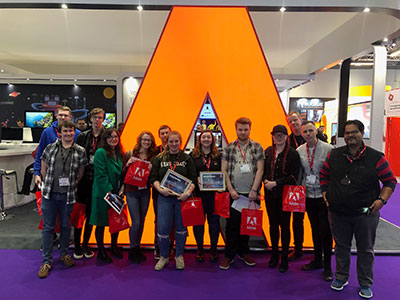 Teesside University students during the challenge. Link to Teesside University students during the challenge.