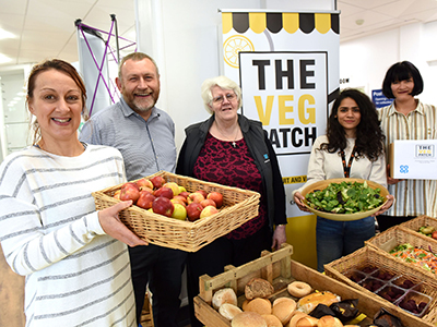 The Veg Patch in Middlesbrough Tower.. Link to Weekly fruit and veg stall offering 'pay as you feel' produce.