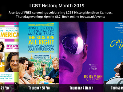 Link to Free film screenings to celebrate LGBT History Month .
