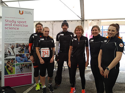 Link to Staff and students team up to compete in duathlon event.
