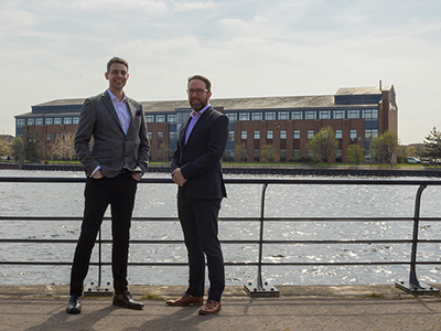 (L-R) David Dixon, investment manager at DigitalCity and Paul Drake, operations director at Sapere. Link to Software company secures further Teesside University tender.