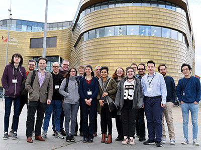Conference picture including the speakers Isolde Adler (Leeds), David Cushing (Durham), Thomas Sauerwald (Cambridge), He Sun (Edinburgh), Sven-Ake Wegner (Teesside) and Luca Zanetti (Cambridge).. Link to View the pictures.