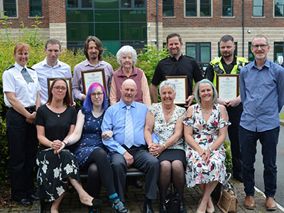 Senior Lecturer in Adult Nursing Matthew Van Loo pictured back row, second from left.. Link to Senior Lecturer in Adult Nursing Matthew Van Loo pictured back row, second from left..