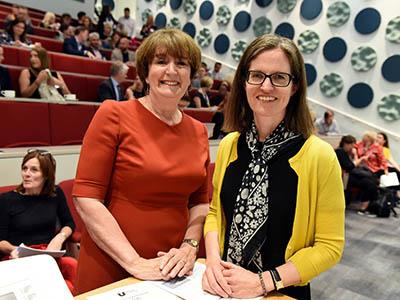 Laura Woods (left) with Harriet Beveridge . Link to Strategies to help businesses win gold.