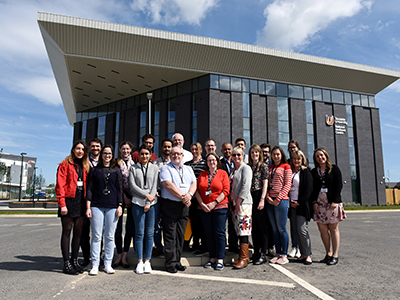 Participants and Teesside University staff at the first CPD course to be held at the National Horizons Centre.. Link to Participants and Teesside University staff at the first CPD course to be held at the National Horizons Centre..
