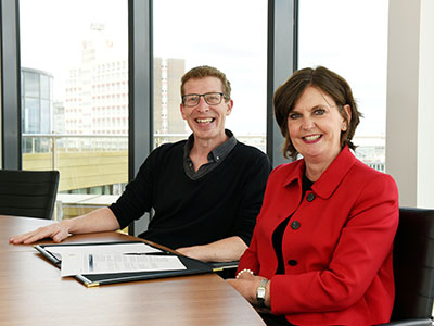 Dominic Lusardi and Professor Jane Turner OBE DL