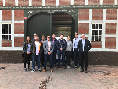 Staff and students on the MBA visit to Hamburg. Link to International collaboration helps develop leadership skills.