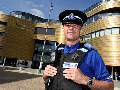 Jonny Severs, Police Community Support Officer. Link to Teesside welcomes new PCSO.