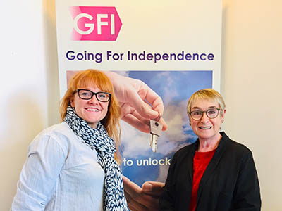 Social entrepreneur-in-residence Pam Bennett (right) with her daughter Sophie Bishop, who is also a director of Going for Independence.. Link to Social entrepreneur-in-residence Pam Bennett (right) with her daughter Sophie Bishop, who is also a director of Going for Independence..