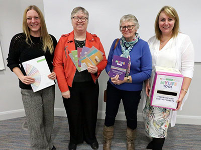 Dr Jillian Taylor, Dr Lis Hammond, Joanne Cole and Dr Stephanie Kilinc. Link to Self-management programme to help people living with long-term conditions.