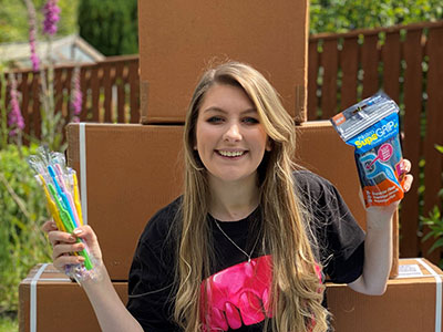 Tamsyn McKenna. Link to Dedicated student donates dental supplies to care homes.