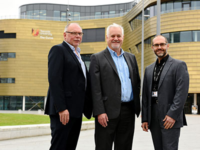 Professor Gary Montague; Malcolm Knott, Managing Director of ITS and Omar Al-Janabi, business innovation manager at Teesside University who provided consultancy to ITS.. Link to Professor Gary Montague; Malcolm Knott, Managing Director of ITS and Omar Al-Janabi, business innovation manager at Teesside University who provided consultancy to ITS..