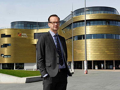 Professor Mark Simpson. Link to Teesside University becomes first Adobe Creative Campus in Europe.