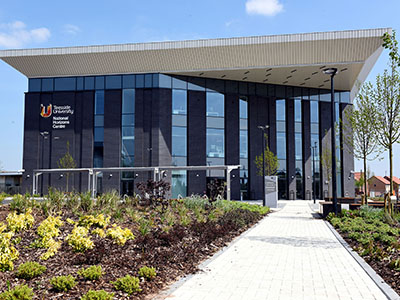 Teesside University's £22.3million National Horizons Centre. Link to Teesside University research develops ground-breaking techniques in the use of AI to predict cell growth.