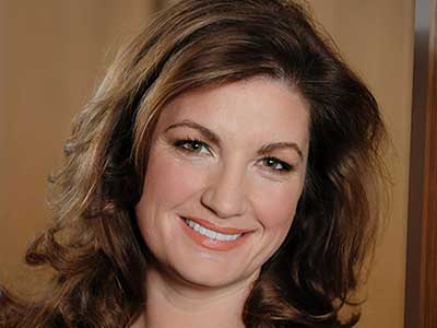 Baroness Karren Brady who spoke at Teesside University's latest Business Exchange event.. Link to Baroness Karren Brady shares business insights.
