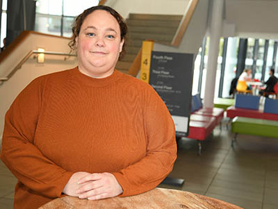 Sarah Whittaker, BA (Hons) Human Resource Management. Link to Scholars share positive impact of study with Teesside University.