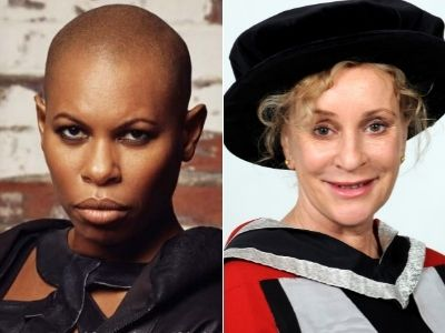Skin and Philippa Gregory. Link to Royal recognition for two Teesside honorary graduates.