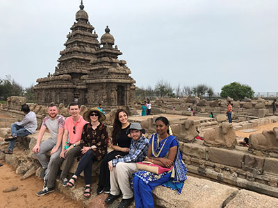 Teesside Students at Mahabalipuram UNESCO World Heritage site as part of a visit to SRM Chennai, India, in 2019.. Link to Teesside Students at Mahabalipuram UNESCO World Heritage site as part of a visit to SRM Chennai, India, in 2019..