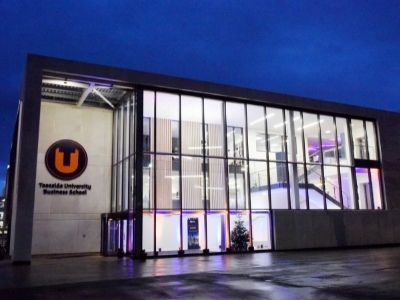 Teesside University International Business School. Link to Business School accredited with Small Business Charter award.