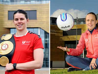 Boxing champion Savannah Marshall and Arsenal Women and England footballer Beth Mead, who both studied at Teesside University. Link to Teesside University accredited by ground-breaking scheme.