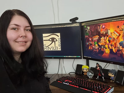 Alycia Carnall, one of the Teesside University students who secured full time work at Double Eleven. Link to Games industry job roles for students after placement success.