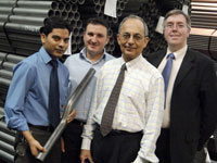 From left to right, Mohammed Shahnawazuddin, Ruben Pinedo-Cuenca, Dr Ahmed Abbas and Doug Malcolm